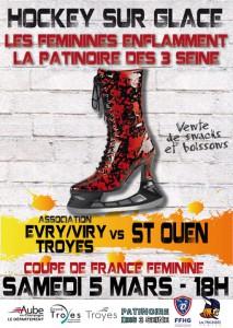 affiche match femine